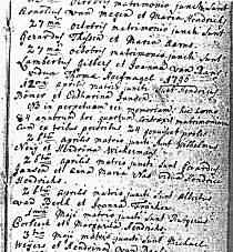 Marriage register entry of Heinrich Boemer - click to see full size (99 KB)